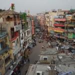 Ulice Delhi - widać naszą restaurację Exotic Restaurant