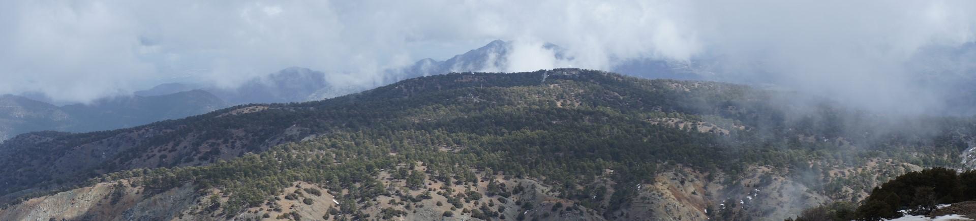 Widok zMt. Olympus 1952 m npm - Cypr
