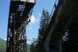 Worochta, Ukraina 2016 – opuszczony kompleks skoczni narciarskich