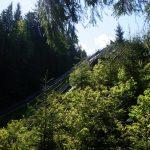 Worochta, Ukraina – Opuszczony kompleks skoczni narciarskich