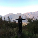 ... a w tle jezioro Como