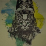 Mural na lecznicy dla zwierząt