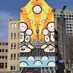 Mural przedU-Tower
